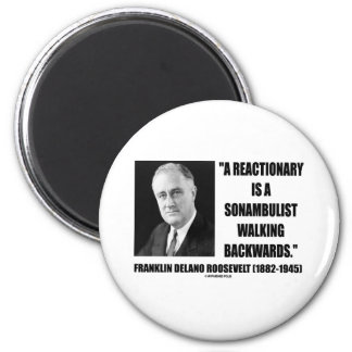 Reactionary Sonambulist Walking Backwards 2 Inch Round Magnet