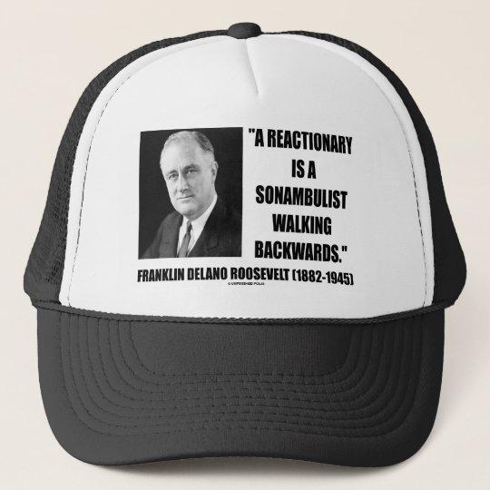 9198af9924a Reactionary Sonambulist Walking Backwards Trucker Hat