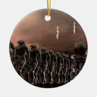 reactivated forces ceramic ornament
