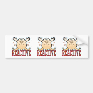 Reactive Fat Man Bumper Sticker