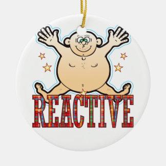 Reactive Fat Man Ceramic Ornament