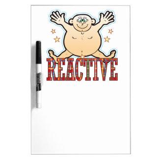 Reactive Fat Man Dry Erase Board