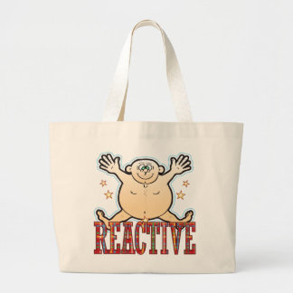 Reactive Fat Man Large Tote Bag