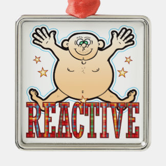Reactive Fat Man Metal Ornament