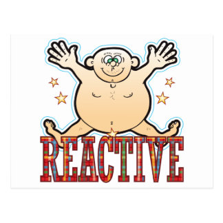 Reactive Fat Man Postcard