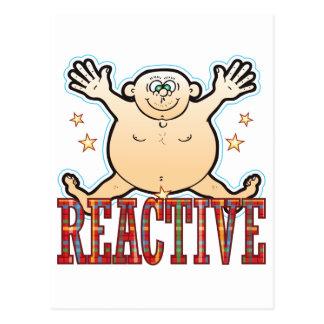 Reactive Fat Man Postcard