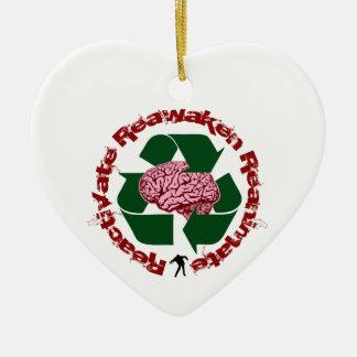 Reactive reaniman Reanimate Adorno Navideño De Cerámica En Forma De Corazón