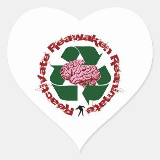 Reactive reaniman Reanimate Pegatina En Forma De Corazón