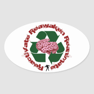 Reactive reaniman Reanimate Pegatina Ovalada