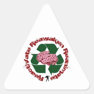 Reactive reaniman Reanimate Pegatina Triangular