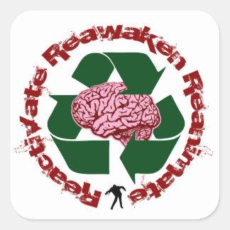 Reactive reaniman Reanimate Pegatina Cuadrada