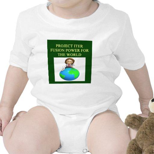 reactor de fusión nuclear del iter del proyecto trajes de bebé
