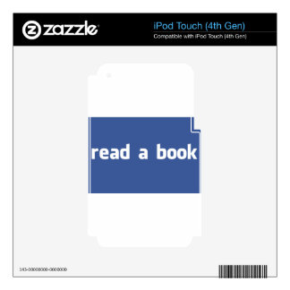 read a book decal for iPod touch 4G