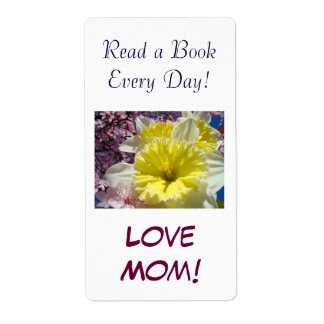 Read a Book Every Day! Love Mom Book tags