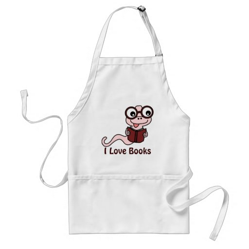 Read a Book Month: I Love Books Adult Apron