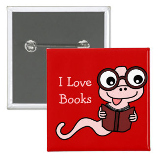 Read a Book Month I Love Books Buttons