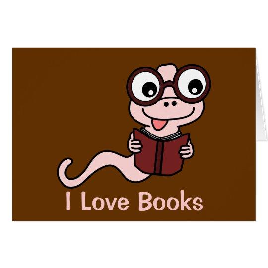 Read a Book Month: I Love Books Card