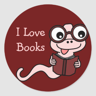 Read a Book Month: I Love Books Classic Round Sticker