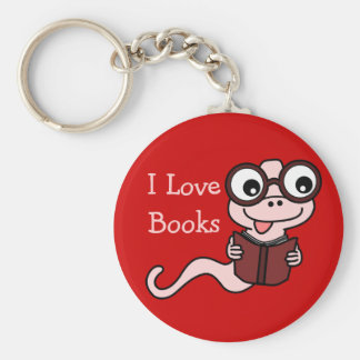 Read a Book Month: I Love Books Basic Round Button Keychain