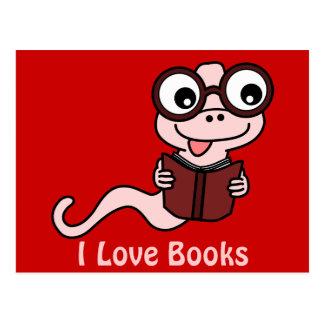 Read a Book Month: I Love Books Postcard