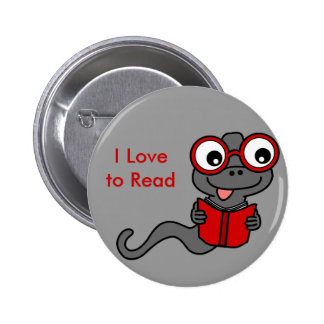 Read a Book Month: I Love Reading 2 Inch Round Button