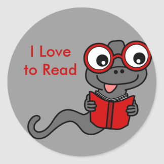 Read a Book Month: I Love Reading Classic Round Sticker