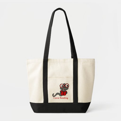 Read a Book Month: I Love Reading Impulse Tote Bag
