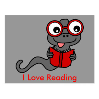 Read a Book Month: I Love Reading Postcard