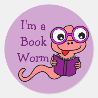 Read a Book Month: I'm a Book Worm Classic Round Sticker