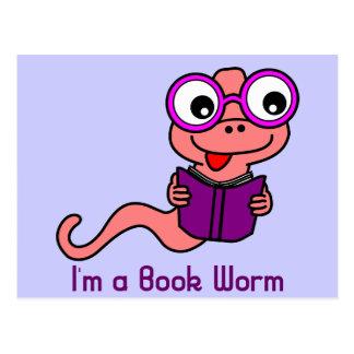 Read a Book Month: I'm a Book Worm Postcard