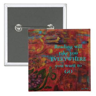 Read a Book Pinback Button