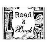 Read A Book Postcard