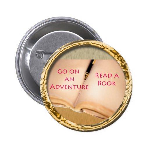 Read a Book round design 2 Inch Round Button