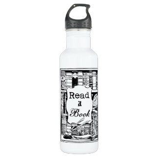 Read A Book Stainless Steel Water Bottle