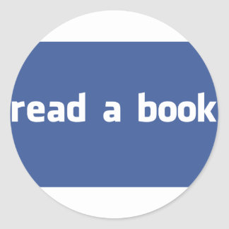 read a book round stickers
