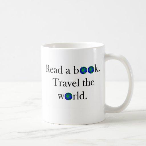 Read a book Travel the World Classic White Coffee Mug