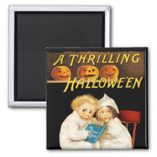 Read a Scary Story 2 Inch Square Magnet