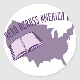 Read Across America Classic Round Sticker