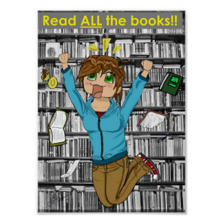 Read All The Books! Poster