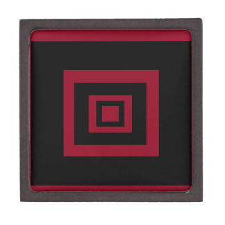 Read and Black Squares Gift Box