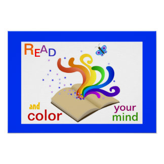 Read and Color Your Mind Literacy Poster
