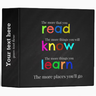 Read and learn binder