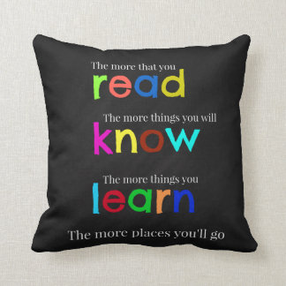 Read and learn throw pillow