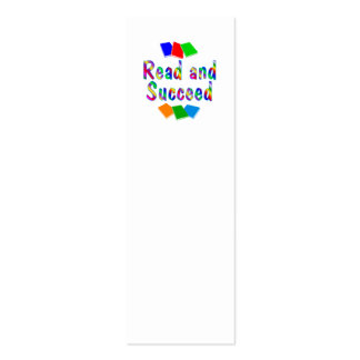 Read and Succeed BOOKMARK Double-Sided Mini Business Cards (Pack Of 20)