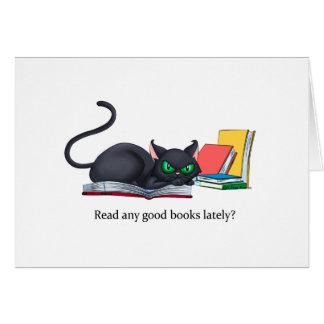 Read any good books lately? card