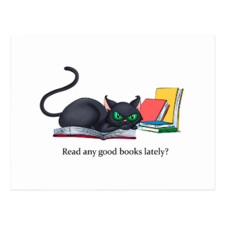 Read any good books lately? postcard