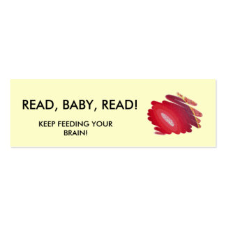 Read Baby Read Red Art Spirals Mini Book Marker Mini Business Card