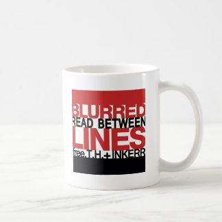 Read Between the Bl;urred Lines Coffee Mug