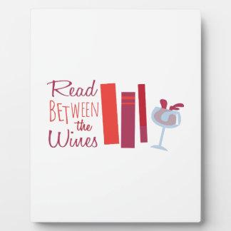 Read Between The Wines Plaque