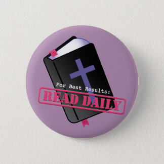 Read Bible Daily Christian Button